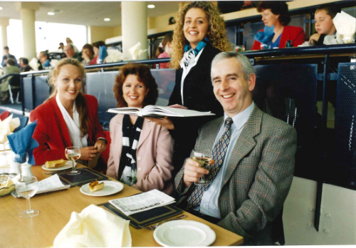 Enjoying the facilities in the restaurant of the new Grandstand at the Kingdom Greyhound Stadium in June 1997