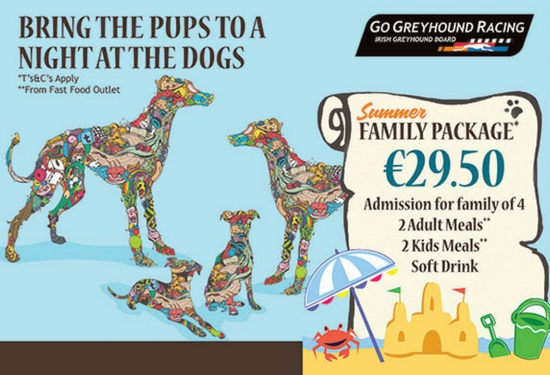 Keep the kids entertained this summer in Kerry with our Family Summer Special at Kingdom Greyhound Stadium in Tralee