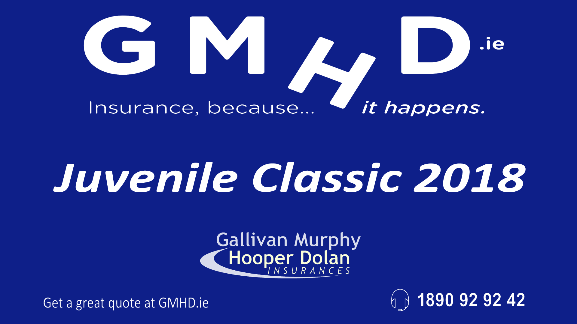 The GMHD.ie Juvenile Classic is on now in Tralee