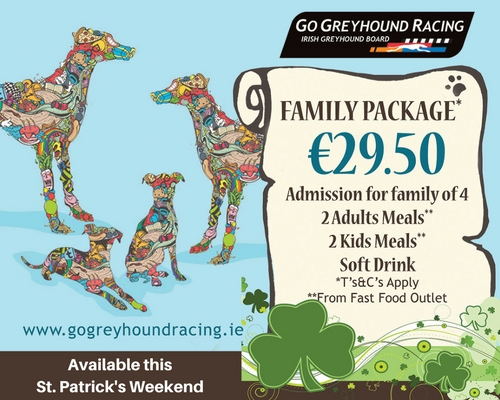 Treat the family to a great night out this St. Patrick's Weekend our special family offer for under €30