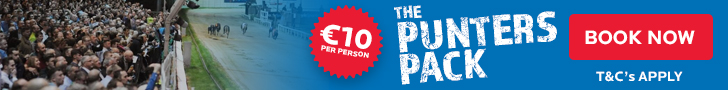 Book our Punters Pack now - the perfect group night out in Waterford with exciting racing in Kilcohan Park