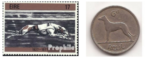 The Greyhound is such an integral part of Irish life that it's featured on stamps and coins